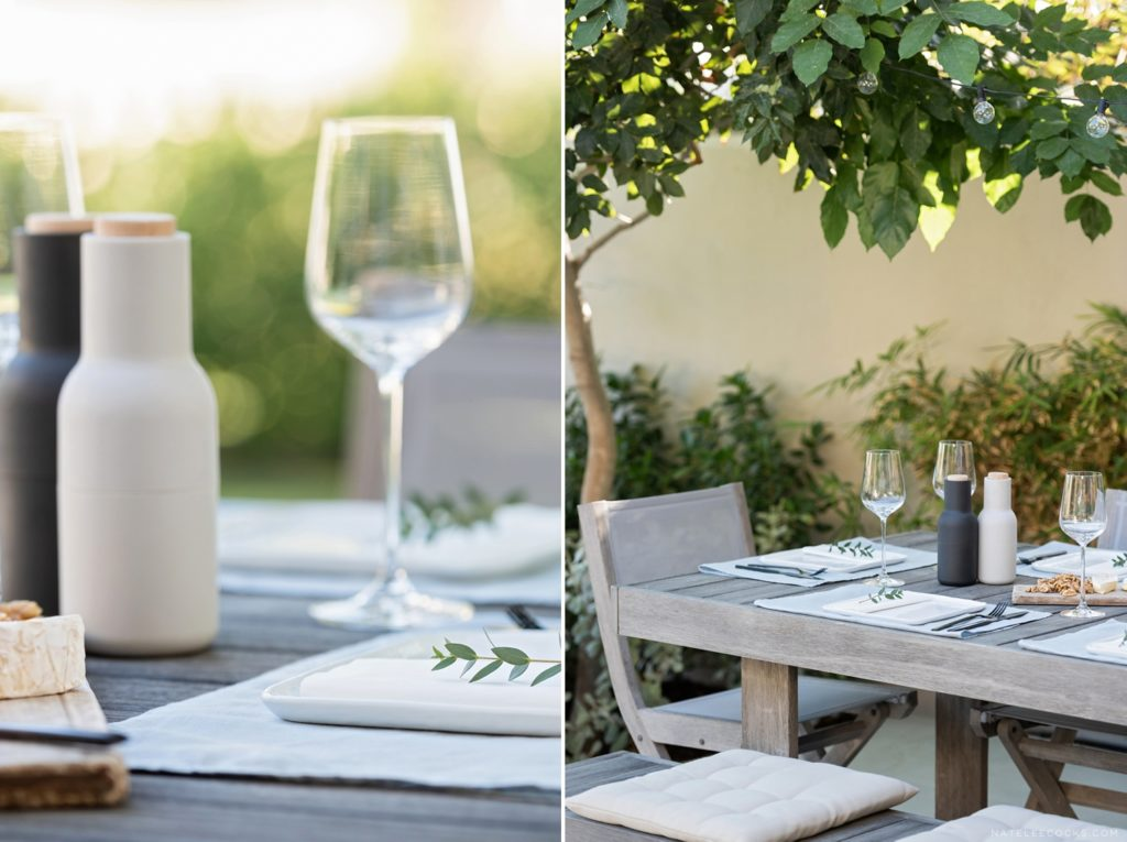 stylish table setting outdoor